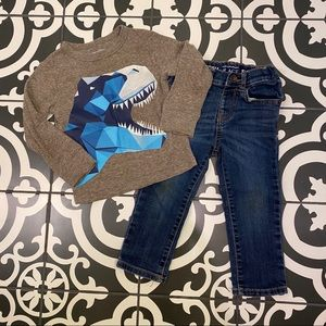 TCP Skinny jeans and LS T Rex shirt. GUC.